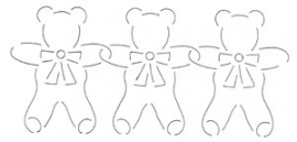 Quilt template - My Teddy Border - 10 cm