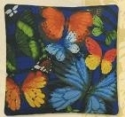 Pillow - Butterflies - aida - counted cross stitch
