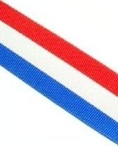 Lint - rood wit blauw - 25 mm - Ribbon - red white blue