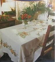 DMC - Tafelkleed Patroon - Rozen - Tablecloth Pattern - Roses