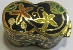 Box, cloisonne - flowers - mini 06
