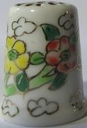 Vingerhoed - 074 - bloemen - Thimble - flowers