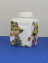 Miniature square Vase with top - 04
