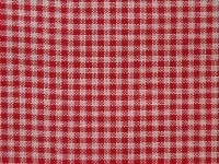 Linen red-white checks evenwave 27ct - 5.5 cm