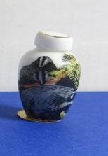 Miniatuur bolle Vaas, hoog - 05 - Miniature round Vase, high