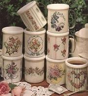 Leisure Arts - Mugs in Bloom