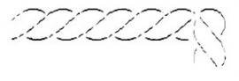 Quilt template - Border - 5 cm