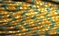 Gevlochten koord, goud met groen -  3 mm- Plaited Cord gold with green