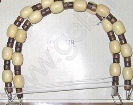 Handvaten, kralen, hout - Handles, beads, wood