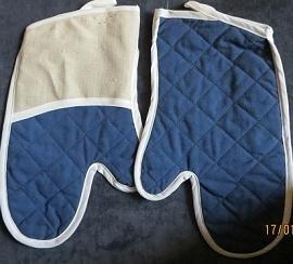 Oven handschoen - donker blauw - Oven mitten - dark blue