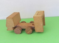 Minature tip up Truck, wood