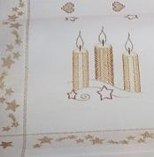 Small Tablecloth with candles - offwhite