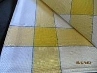 Small Tablecloth - white with yellow and blue