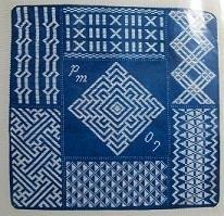Ethnic Fiber Art - Phyllis Maurer - Een Vierkant Kussen - A Square Pillow
