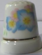 Vingerhoed - 065 - bloemen  - Thimble - flowers