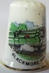 Vingerhoed - 040 - porselein - trein - Blackmore Vale - Thimble - bone china - train