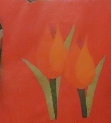 Tulpen kussen - Tulip cushion