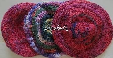 Jewelsilk® - 6 - Silk Coasters - 3 pcs