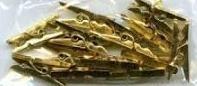 Clothes-pegs mini gold, 48 pcs