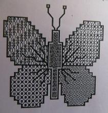 DHC - Blackwork - Vlinder  - Noir 16 - Zwart 16 - Black 16 - Butterfly