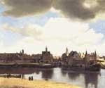 Scarlet Quince - Johannes Vermeer - Gezicht op Delft - View of Delft