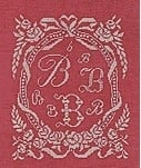 DHC - Initials, 10 White Ribons - ABC