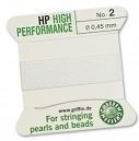 Bead cord - no. 3 - 0.50 mm - white - high performance