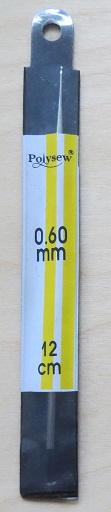Staal - 0.60 mm - Crochet hook - Steel