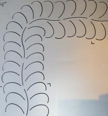 Quilt mal - Feather Border - 10  cm - Quilt Design