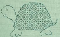 Butterfly Stitches - Connie Ewbank - Blackwork - Kleine Schildpad - Little Turtle