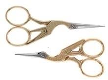 Schaar - ooievaar - Scissors - stork - 12 cm