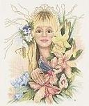 Maria van Scharrenburg - Voorjaars Bloemenmeisje - Spring Flower girl