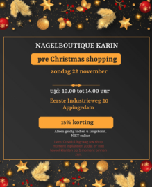 Pre Christmas shopping 22 november 13.30 uur