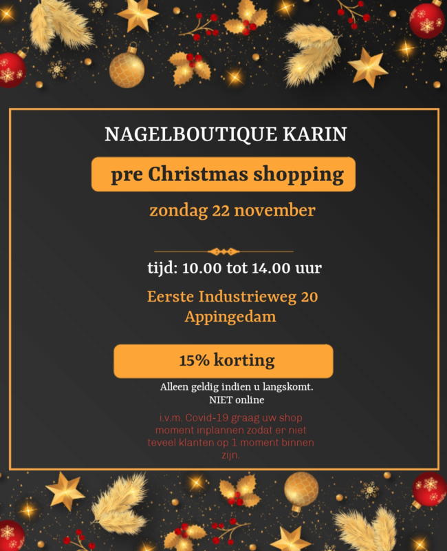 Pre Christmas shopping 22 november 10 uur