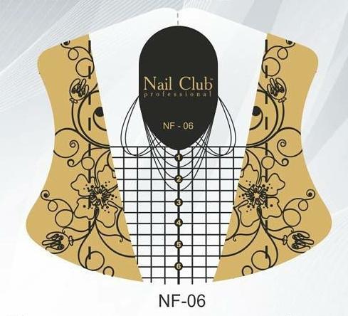 Sjablonen nail club NF-06