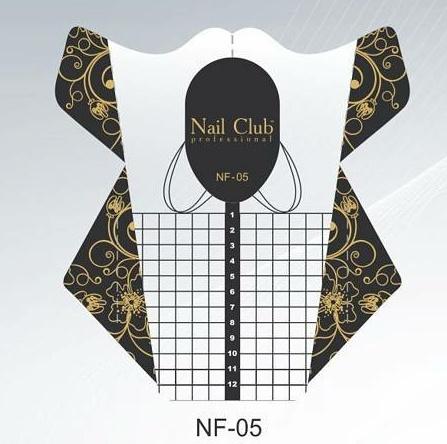 Sjablonen Nail club NF-05