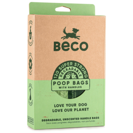 BecoBags biodegradable poo bags with handle (120 pieces)