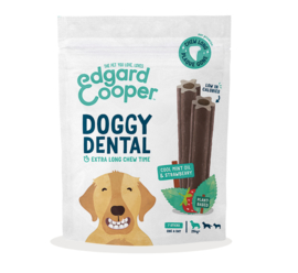 Doggy Dental sticks - Munt & aardbei (s/m/l)