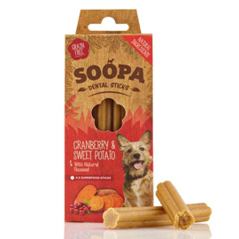 Soopa Dental Sticks - Cranberry and Sweet Potato