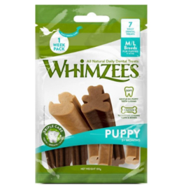 Whimzees Puppy Dental Sticks (M/L, 7 stuks)