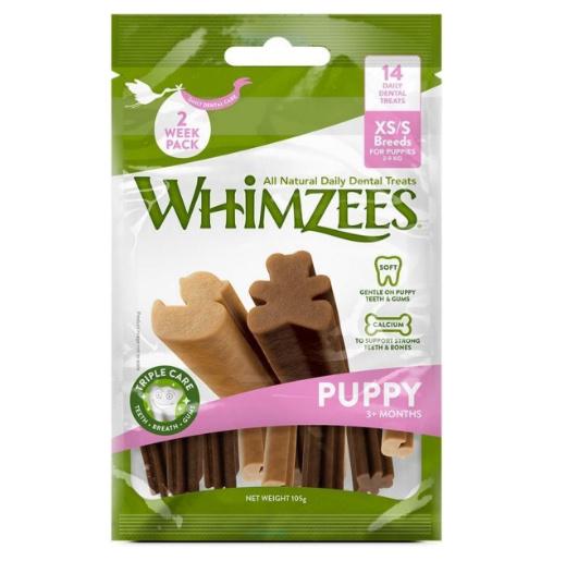Whimzees Puppy Dental Sticks (XS/S, 14 stuks)