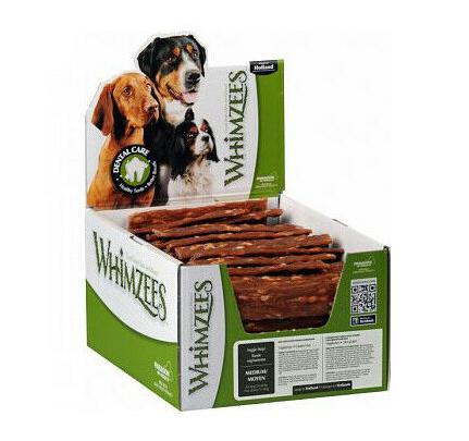 Whimzees Veggie strips (m) (Per doos - 100 stuks)
