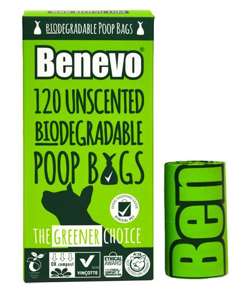 Benevo biologisch afbreekbare poepzakjes (120 stuks)