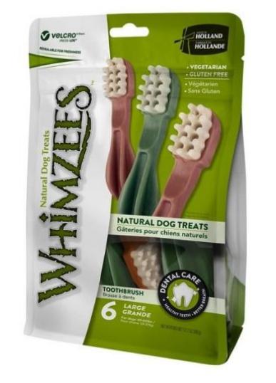 Whimzees tandenborstel L (value bag - 6 stuks)
