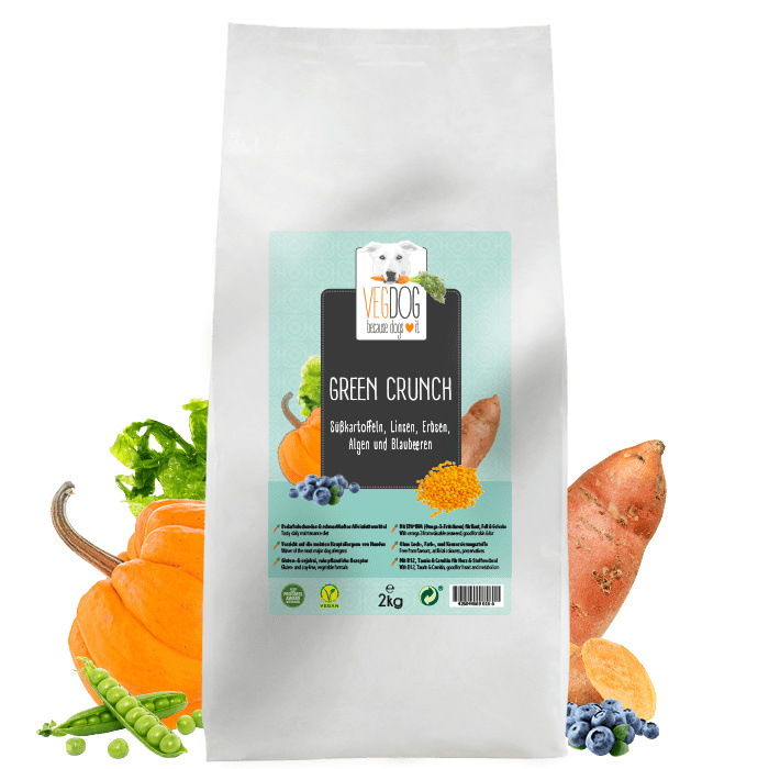 Proefzakje VegDog Green Crunch (250 gram)