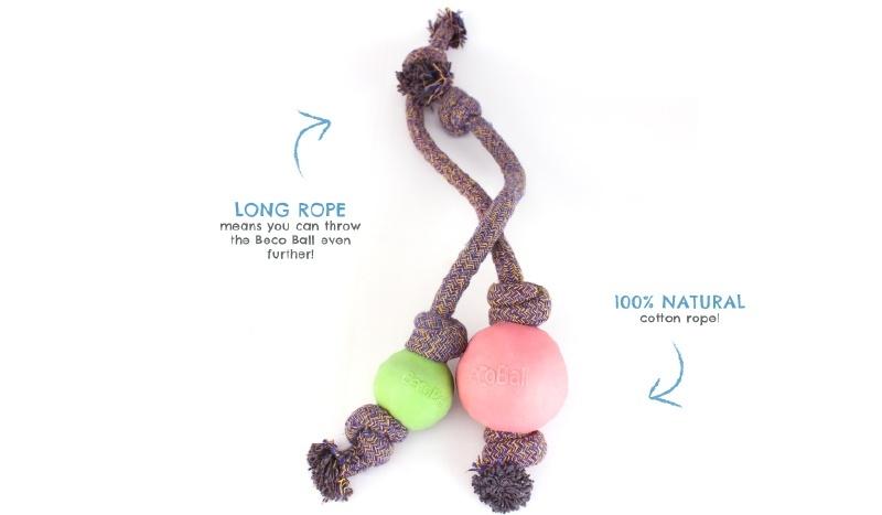 Beco speelbal aan touw (s,l)
