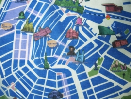 scarve . amsterdam map . blue