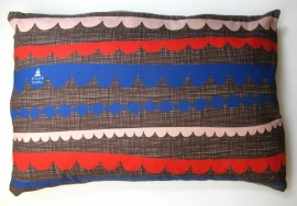 pillow cover . scallop . brown