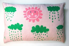 pillow cover .  sunny . pink