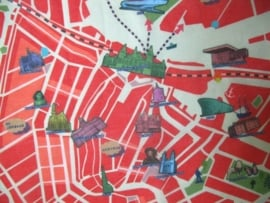scarve . amsterdam map . red